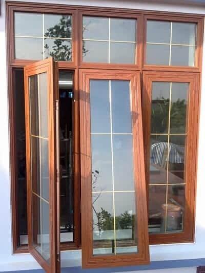 Cửa sổ nhôm Xingfa 3 cánh mở quay kết hợp với mở hất