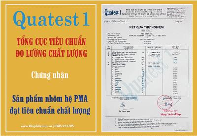 Chứng nhận chất lượng nhôm PMA nhập khẩu