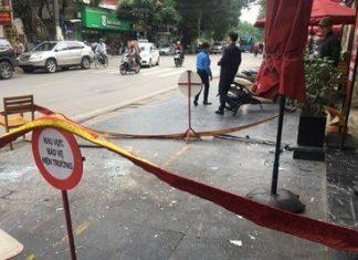 Khu vực xảy ra vụ việc được căng dây bảo vệ.