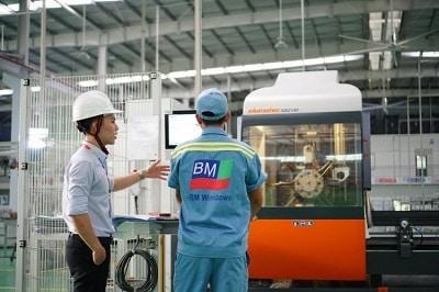 BM Windows đầu tư công nghệ sản xuất façade, nhôm kính hàng đầu thế giới của Đức.