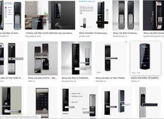 """Chỉ cần gõ từ khóa """"khóa cửa điện tử"""" trên Google sẽ hiện ra rất nhiều sản phẩm của các thương hiệu khác nhau."""