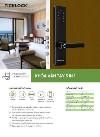 Khóa vân tay Ticklock Sl-02 – dòng khóa cửa bán chạy nhất nhờ tích hợp tính năng quản lý khóa qua smartphone