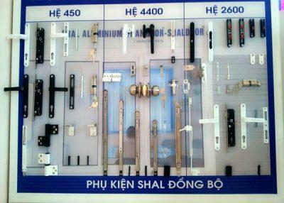 Phụ kiện đồng bộ cửa nhôm kính Việt Pháp