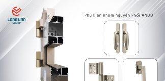 Các loại bản lề cửa nhôm kính chất lượng Nhật Bản được sử dụng cho hệ LV 56 cửa nhôm Nhật Bản