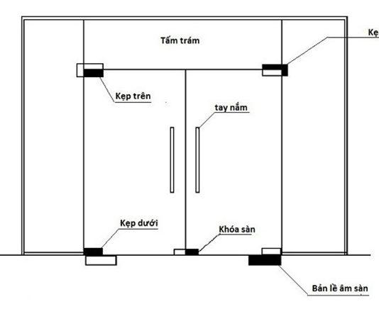 Cách trừ cửa kính cường lực CHUẨN XÁC để ra bản vẽ sản xuất