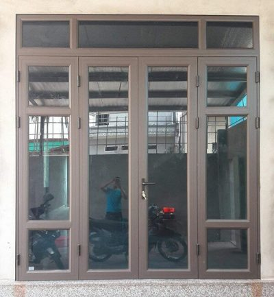 Cửa nhôm Việt Pháp 4 cánh đẹp