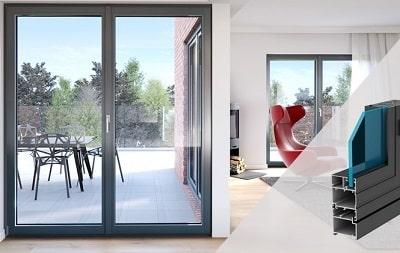 Cửa nhôm kính dạng đơn - thiết kế phù hợp với phong cách tối giản