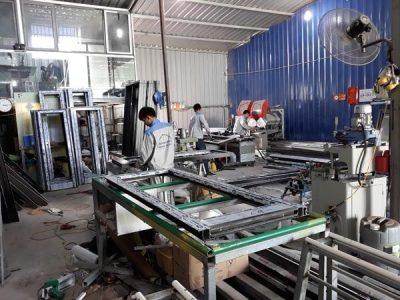 Xưởng gia công cửa nhôm Việt Pháp