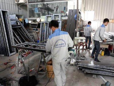 Sản xuất cửa nhôm Việt Pháp