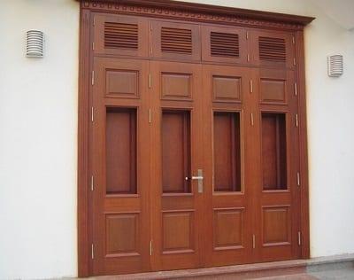 Mẫu cửa nhôm 4 cánh mặt tiền đẹp, hiện đại, sang trọng - Ảnh 2