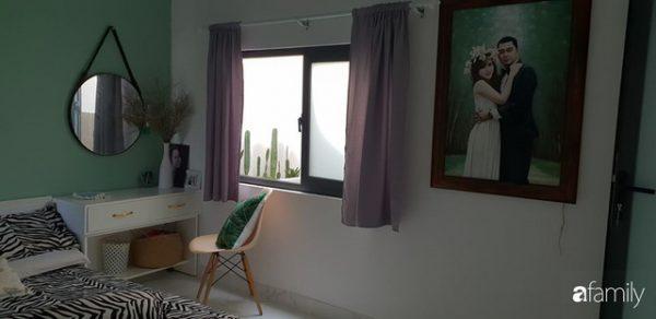 Phòng ngủ của cặp vợ chồng trẻ sau cải tạo.