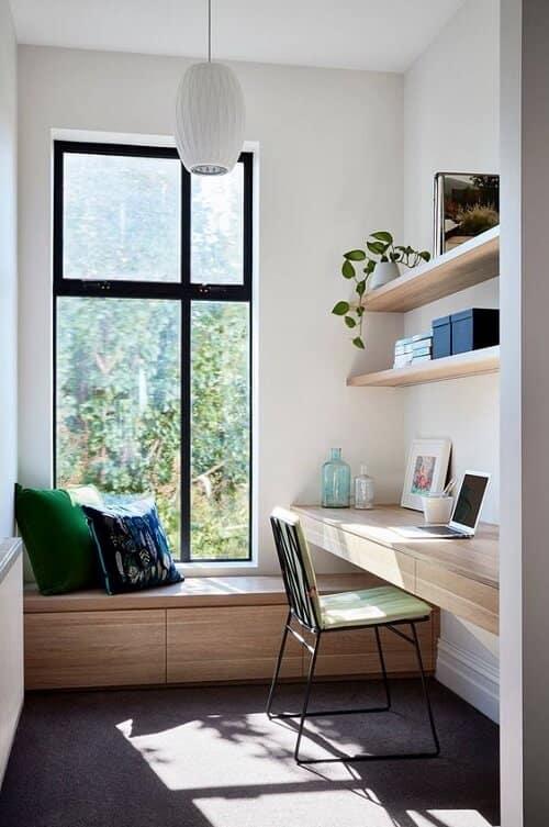 Sử dụng cửa sổ nhôm cho không gian làm việc giúp đón ánh sáng tự nhiên
