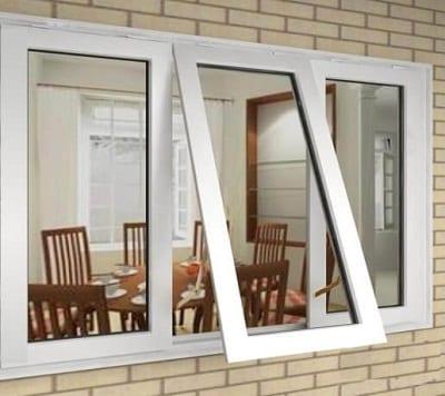 Cửa sổ mở hất nhôm kính