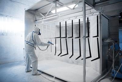 Phun sơn tĩnh điện là công nghệ được nhiều nhà máy áp dụng