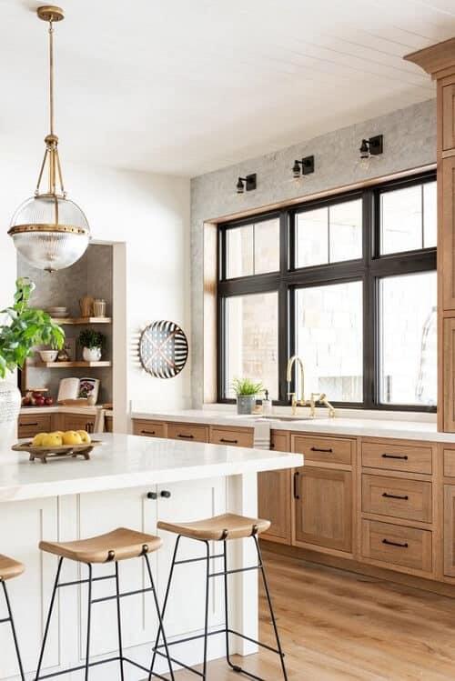 Cửa sổ nhôm kính cho gian bếp tinh tươm
