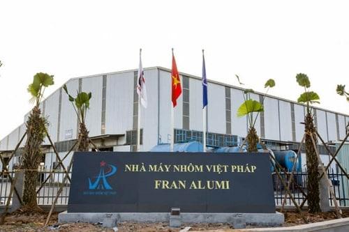 Nhà máy nhôm Việt Pháp - nơi sản xuất thanh nhôm Việt Pháp cung cấp cho thị trường